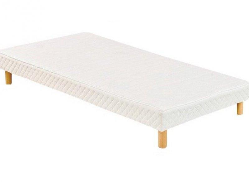 Acheter Sommier 70x190 tapissier volige 12 cm + 4 pieds pas cher !